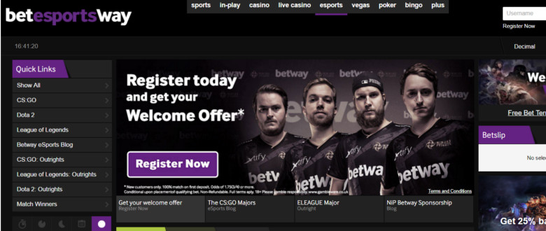 betway esport skärmdump