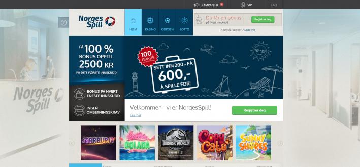 Norgesspill casino hemsida